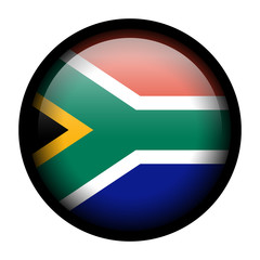 Flag button illustration with black frame - South Africa