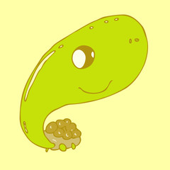 cartoon character turtle vector illustration, hand drawn
