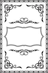 Baroque vintage frame