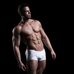 Muscular man in studio
