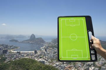 Soccer Football Tactics Board Rio de Janeiro Brazil