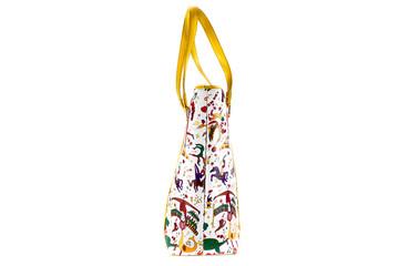 Painted textile bag