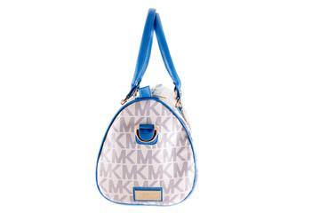 White textile purse