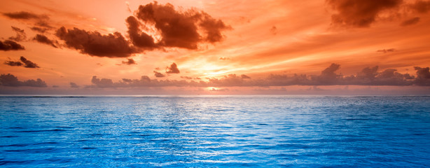 Tropical blue sea water
