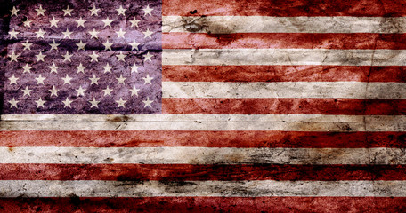 USA flag textured United Stats of America