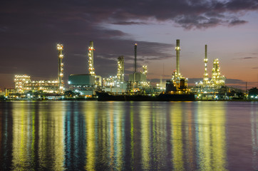 Petrochemical plant  industry at twilight time