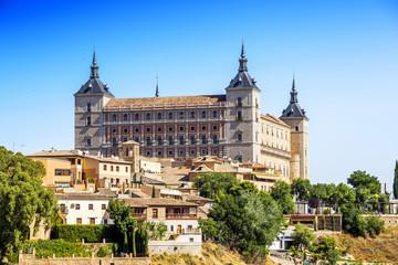 View of the Alcazar in Toledo, Spain