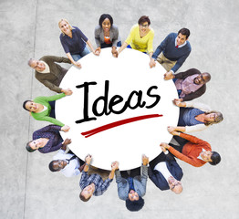 Multi-Ethnic Group of People and Ideas Concepts