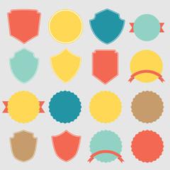 Set of vector stickers