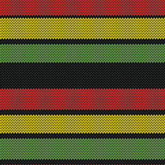 rastafarian stripes seamless pattern