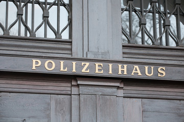 German police house signboard