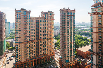 modern high-rise multi-storey residential building. Moscow