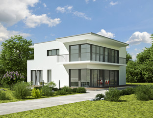 Modernes weisses Haus
