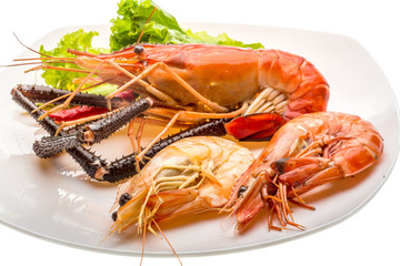 Giant Freshwater Prawn and king prawns