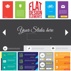 Flat Web Design elements.