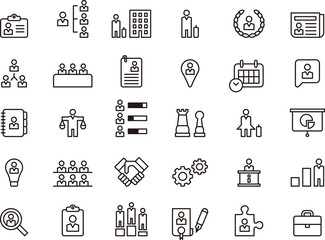 Business, Human Resources & Management icons