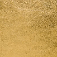 Golden color leather