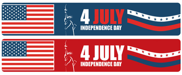 4th of July American independence day banner