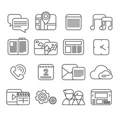 Phone functions icon set