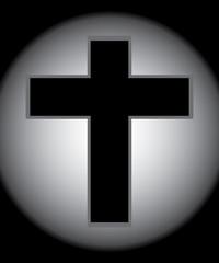 Two Tone Jesus Cross