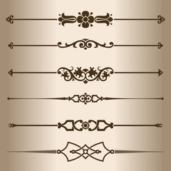Decorative lines. Design elements - dividing lines.