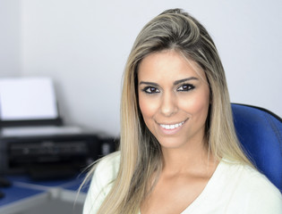 Pretty blond secretary
