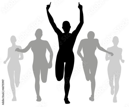 Läufer  Läufer vektor Silhouette