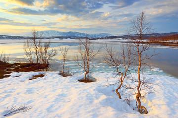 Abisko's national park. Sweden. Norrbotten. Lapland. Lake Torne