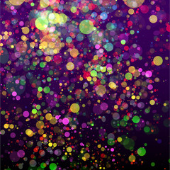 Abstract celebration background with colorful bright lights
