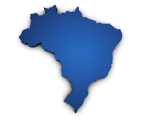 Map Of Brazil 3d Shape