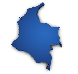 Map Of Colombia 3d Shape
