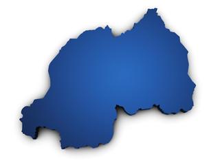 Map Of Rwanda 3d Shape