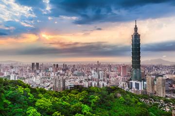 Foto auf Gartenposter Paris Taipei City View at Evening