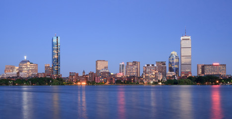 Boston, view of Back Bay from Cambridge