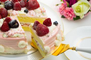 ケーキ バラの花