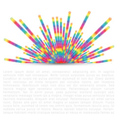 Colorful dotted lines abstract background
