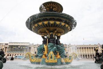 Foto op Plexiglas Fontaine Fontaine des mers place de la Concorde Paris