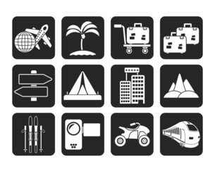 Silhouette Holiday travel and transportation icons