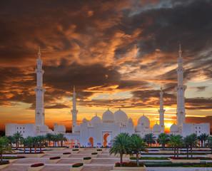Sheikh Zayed mosque in Abu Dhabi, United Arab Emirates