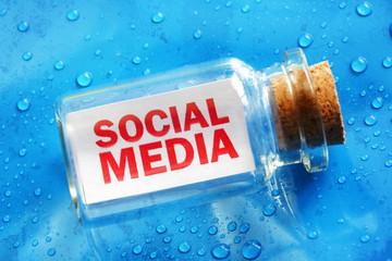 Social media message in a bottle