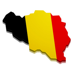 Map Belgium
