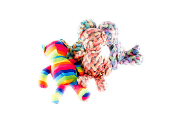Colorful textile bears