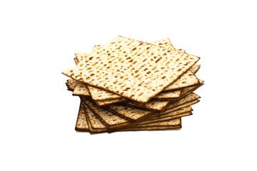 passover background. matzoh (jewish passover bread) isolated