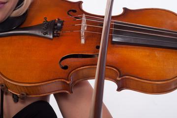 Violin Close up in the sun