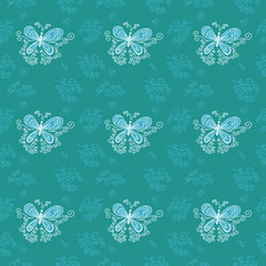 seamless background butterfly 4