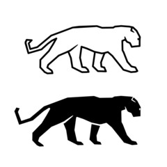 cat silhouette on a white background