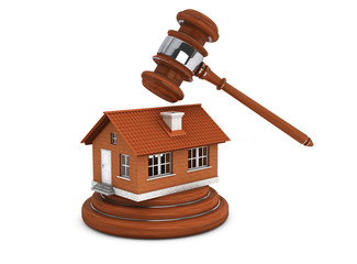 Justice Gavel with Brick House