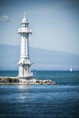 Lighthouse on Lake Geneva
