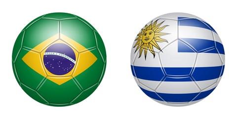 Football. Brazil - Uruguay