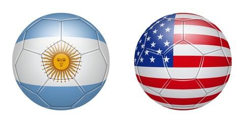 Football. Argentina - USA